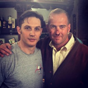 Justin Pearson with Tom Hardy